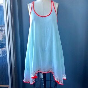 Free People Gauzy Mint Racerback Dress Size S
